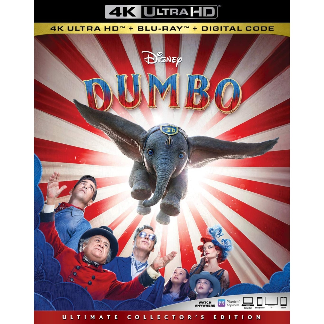 "Disney New ""Dumbo"" Now Available On 4K, Blu-Ray, DVD and"